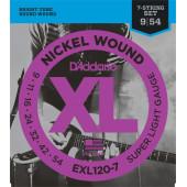 D`Addario EXL120-7 XL NICKEL WOUND