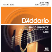 D`Addario EJ10 BRONZE 80/20 Extra Light 10-47