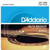 D`Addario EZ910 AMERICAN BRONZE 85/15 Light 11-52